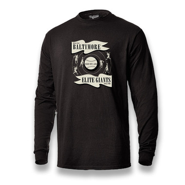 Men's Teambrown Baltimore Elite Giants Long Sleeve Crew T-Shirt