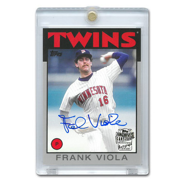 Frank Viola Autographed Card 2015 Topps Archives Franchise Favorites Ltd Ed of 199