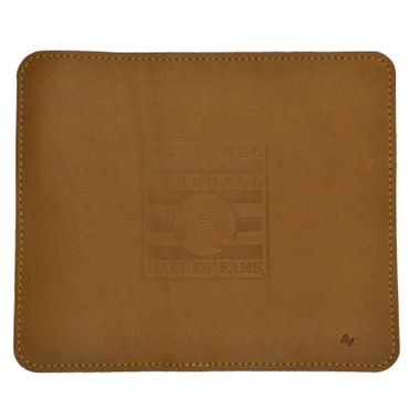 Baseball Hall of Fame Leather Mousepad