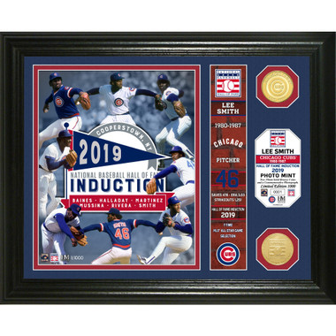 Highland Mint Lee Smith Chicago Cubs Hall of Fame Banner Photo Mint