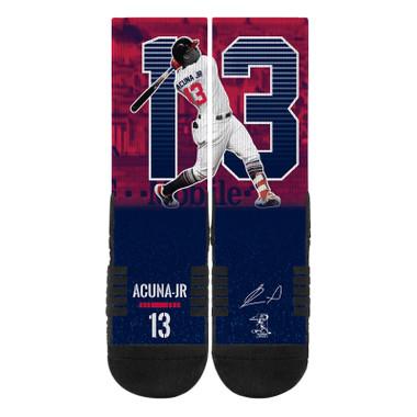 Strideline Ronald Acuna Full Image Premium Crew Socks