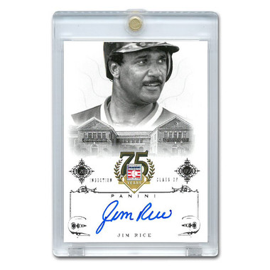 Jim Rice Autographed Card 2014 Panini Cooperstown HOF 75th Anniversary # 35