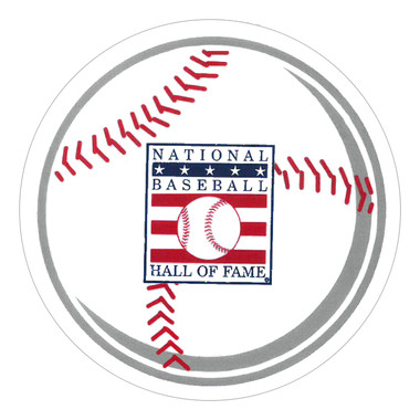 Baseball Hall of Fame 3 Inch Baseball Static Sticker