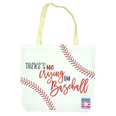 Baseball Hall of Fame No Crying Tote Bag