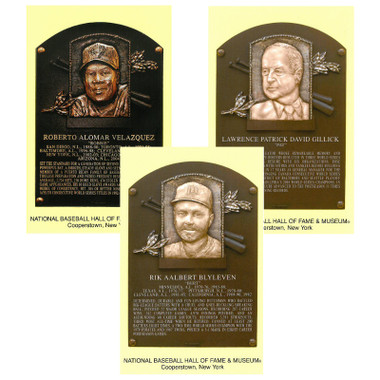 Class of 2011 Baseball Hall of Fame Plaque Postcard Set of 3 (Alomar, Blyleven, Gillick)