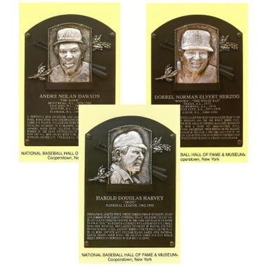 Class of 2010 Baseball Hall of Fame Plaque Postcard Set of 3 (Dawson, Harvey, Herzog)