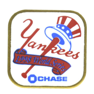 New York Yankees 1998 World Series Champions Logo Stadium Chase Pin