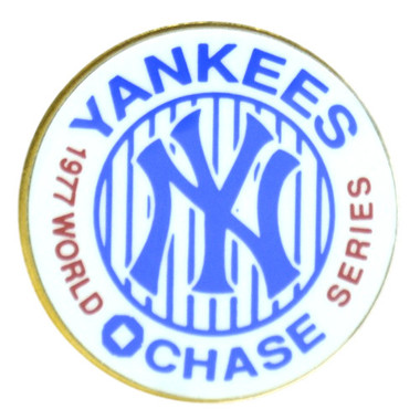New York Yankees 1977 World Series Champions Logo Stadium Chase Pin