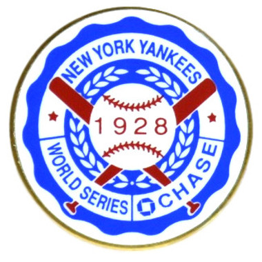 New York Yankees 1928 World Series Champions Logo Stadium Chase Pin