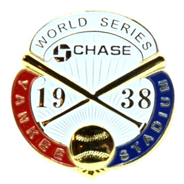 New York Yankees 1938 World Series Champions Logo Stadium Chase Pin