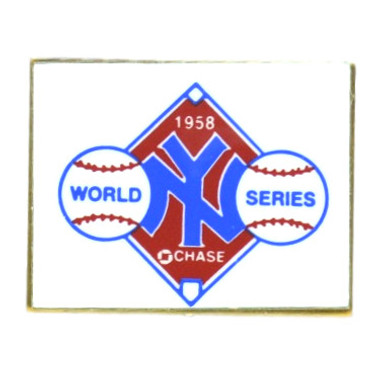 New York Yankees 1958 World Series Champions Logo Stadium Chase Pin