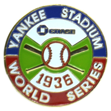 New York Yankees 1936 World Series Champions Logo Stadium Chase Pin
