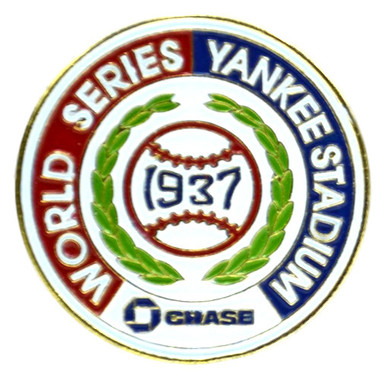 New York Yankees 1937 World Series Champions Logo Stadium Chase Pin