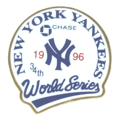New York Yankees 1996 World Series Champions Logo Stadium Chase Pin