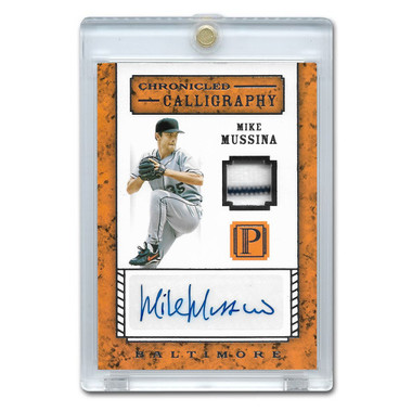 Mike Mussina Autographed Card 2016 Panini Pantheon Chronicled Calligraphy Ltd Ed of 199