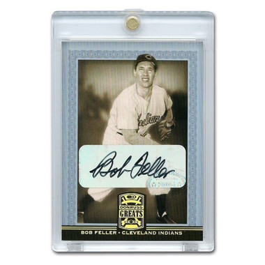 Bob Feller Autographed Card 2005 Donruss Greats Gold Holofoil Signatures