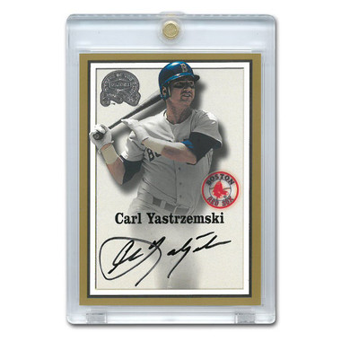 Carl Yastrzemski Autographed Card 2000 Fleer Greats of the Game