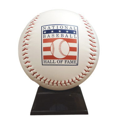 Baseball Hall of Fame Jumbo 7 inch Logo Baseball with Stand