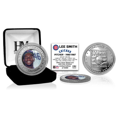 Highland Mint Lee Smith Chicago Cubs Silver Hall of Fame Silver Photo Coin