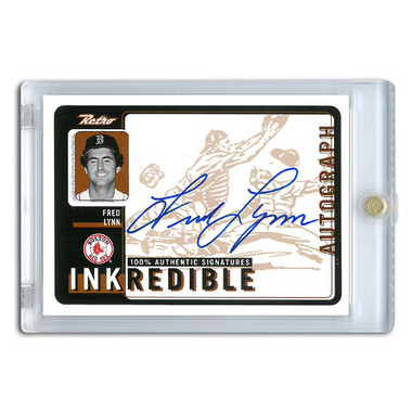 Fred Lynn Autographed Card 1999 Upper Deck Retro Ink