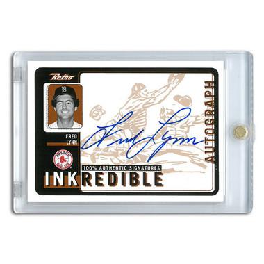 Fred Lynn Autographed Card 1999 Upper Deck Retro Ink