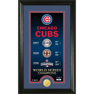 Highland Mint Chicago Cubs Legacy Supreme Bronze Coin 12 x 20 Photo Mint