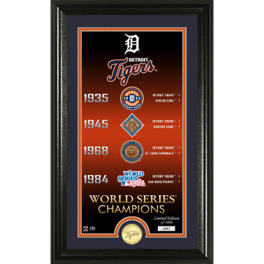 Highland Mint Detroit Tigers Legacy Supreme Bronze Coin 12 x 20 Photo Mint