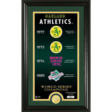 Highland Mint Oakland Athletics Legacy Supreme Bronze Coin 12 x 20 Photo Mint