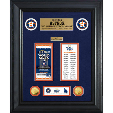 Highland Mint Houston Astros World Series Deluxe Framed Gold Coin & Replica Ticket Collection