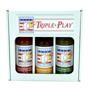 Baseball Hall of Fame Hot Sauce 3 Pack Gift Set