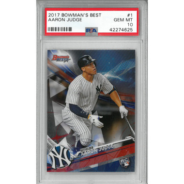 Aaron Judge New York Yankees 2017 Bowman's Best # 1 Rookie Card PSA 10