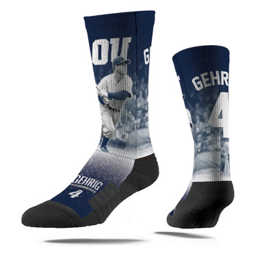 Men's Strideline Lou Gehrig Swing Full Image Premium Crew Socks