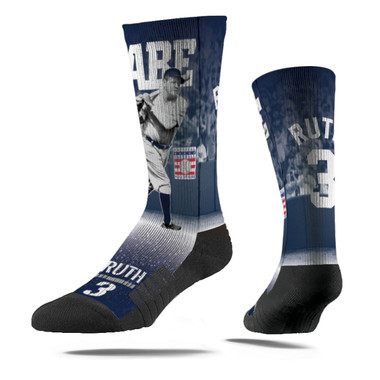 Men's Strideline Babe Ruth Swing Full Image Premium Crew Socks