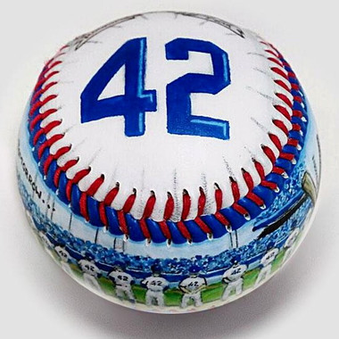 Jackie Robinson Thank You Unforgettaballs Limited Commemorative Baseball with Lucite Gift Box