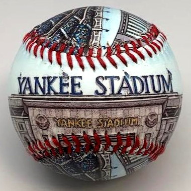 Yankee Stadium (2009) Unforgettaballs Limited Commemorative Baseball with Lucite Gift Box