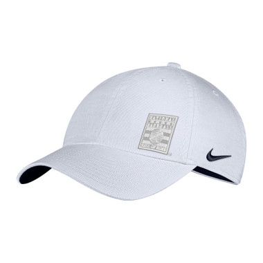 Women's Nike Baseball Hall of Fame White Pearl Logo Adjustable Cap