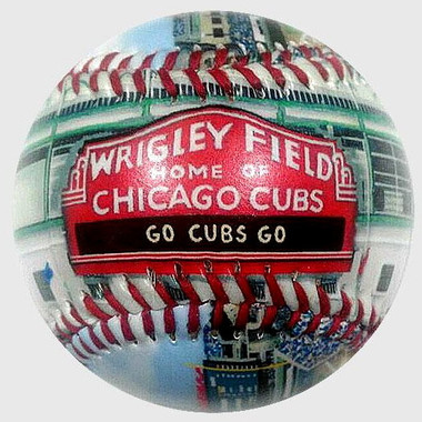 Wrigley Field (New) Unforgettaballs Limited Commemorative Baseball with Lucite Gift Box
