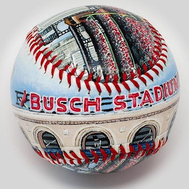 Busch Stadium III Unforgettaballs Limited Commemorative Baseball with Lucite Gift Box