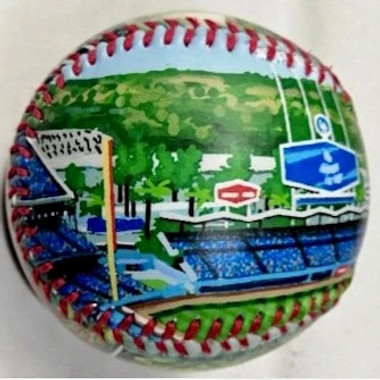 Dodger Stadium Unforgettaballs Limited Commemorative Baseball with Lucite Gift Box