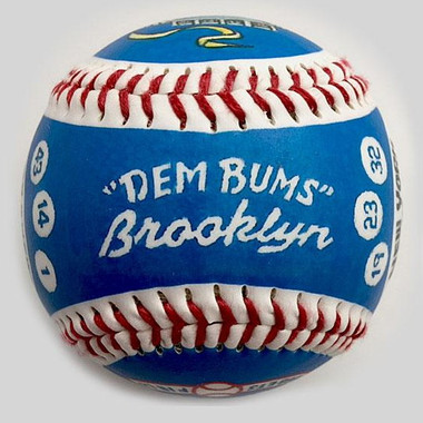 Brooklyn Dodgers 1955 Dem Bums Unforgettaballs Limited Commemorative Baseball with Lucite Gift Box