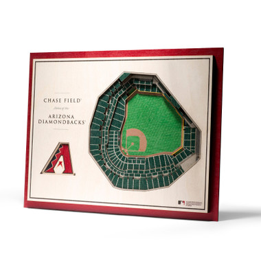 Arizona Diamondbacks 5 Layer 17 x 13 StadiumViews 3D Wall Art