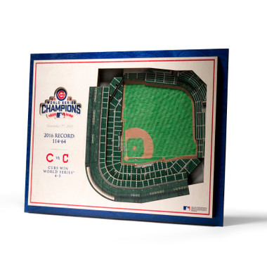 Chicago Cubs 2016 World Series Champions 5 Layer 17 x 13 StadiumViews 3D Wall Art
