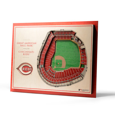 Cincinnati Reds 5 Layer 17 x 13 StadiumViews 3D Wall Art