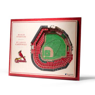 St. Louis Cardinals 5 Layer 17 x 13 StadiumViews 3D Wall Art