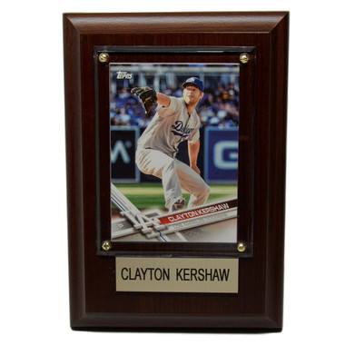 "Clayton Kershaw Los Angeles Dodgers 4"" x 6"" Baseball Card Plaque"