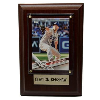 "Clayton Kershaw Los Angeles Dodgers 4"" x 6"" Baseball Card Plaque"