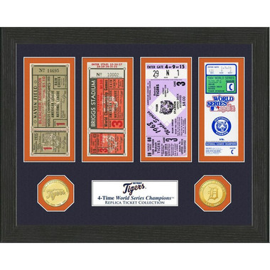 Highland Mint Detroit Tigers Framed World Series Replica Ticket Collection