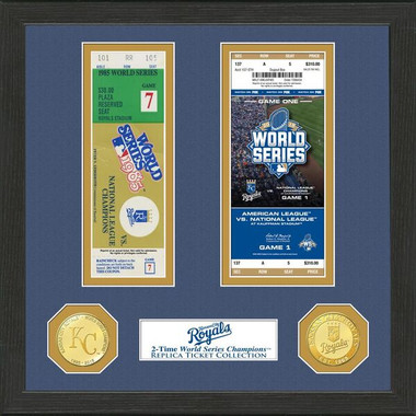 Highland Mint Kansas City Royals Framed World Series Replica Ticket Collection