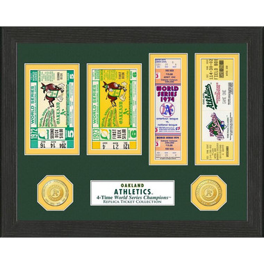 Highland Mint Oakland Athletics Framed World Series Replica Ticket Collection