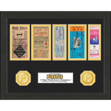 Highland Mint Pittsburgh Pirates Framed World Series Replica Ticket Collection